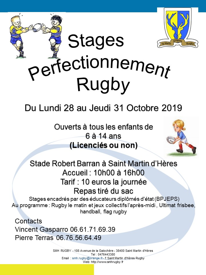 Stages Perfectionnement Oct 2019